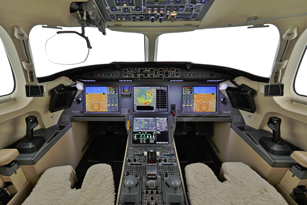 Luxurious helicopter cockpit