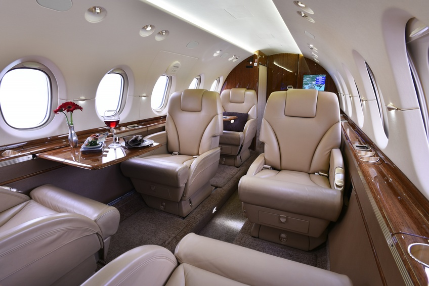 Full interior view of the 2012 Hawker 900XP S/N HA-0209 on Freestream