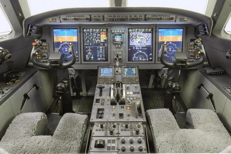 Jet cockpit fullspread view