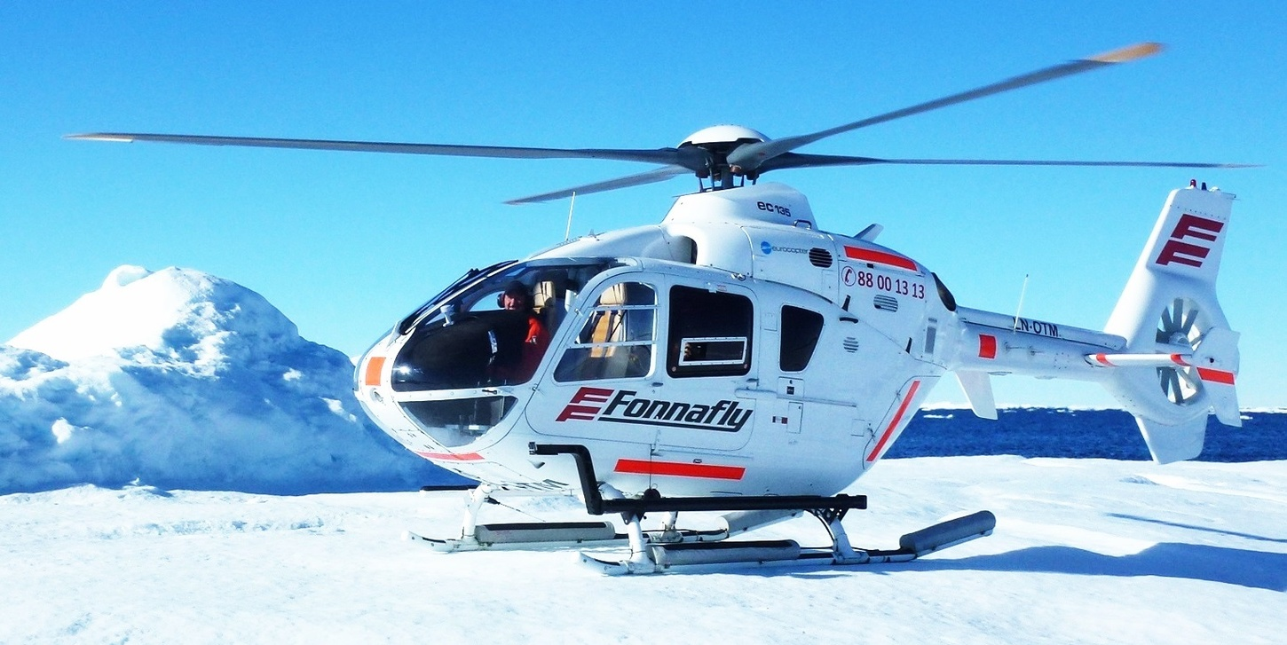LN-OTM Fonnafly helicopter on snow mountains on Freestream