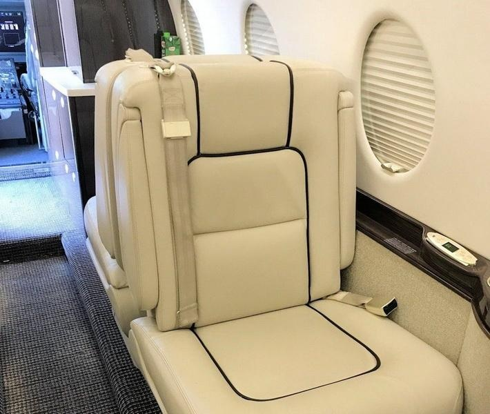 Leather luxurious seat in jet