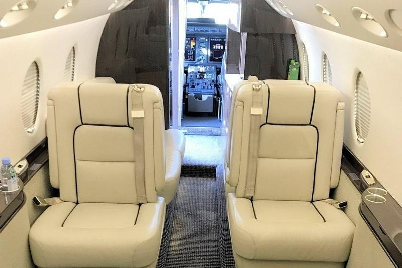 Luxurious onboard seats and partial cabin view