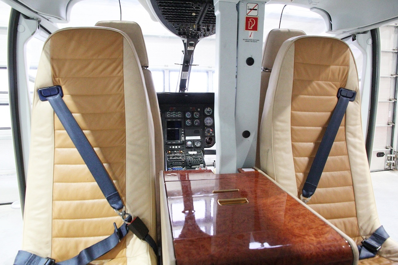 Interior of the Eurocopter EC135T1 S/N 0088 on Freestream