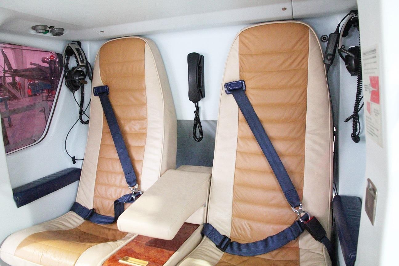 Rear seats of the Eurocopter EC135T1 S/N 0088 on Freestream