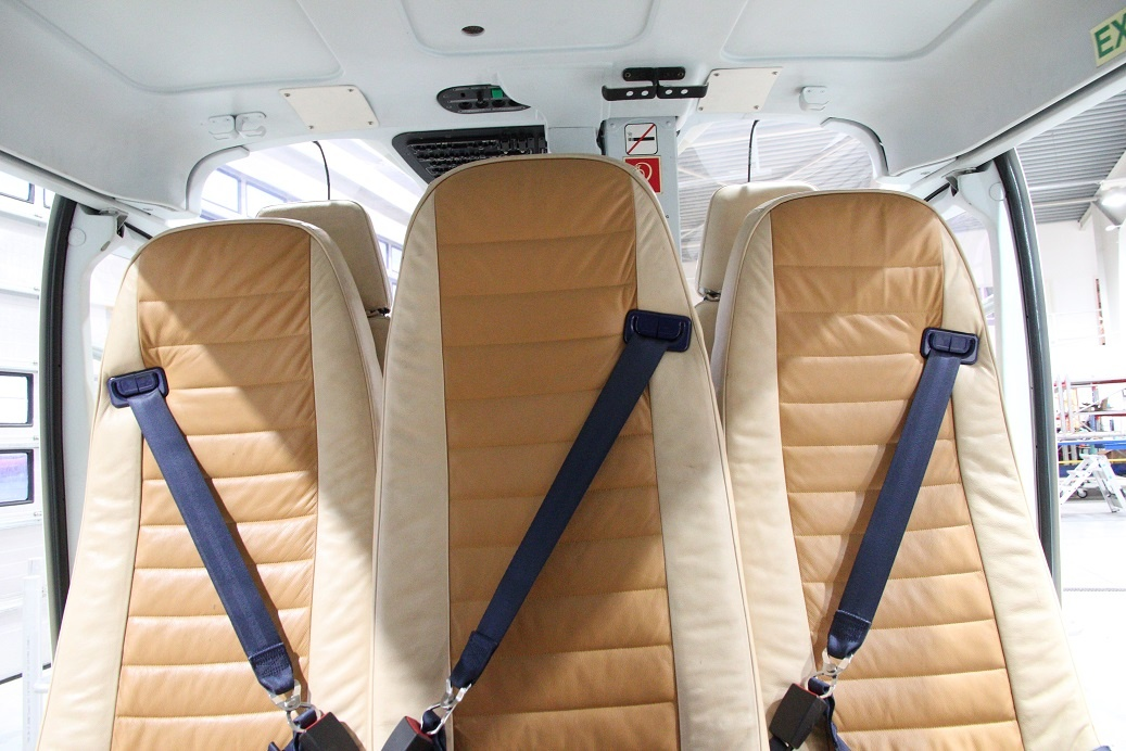 Interior seats in helicopter