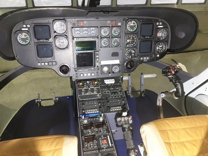 Cockpit within a helicopter