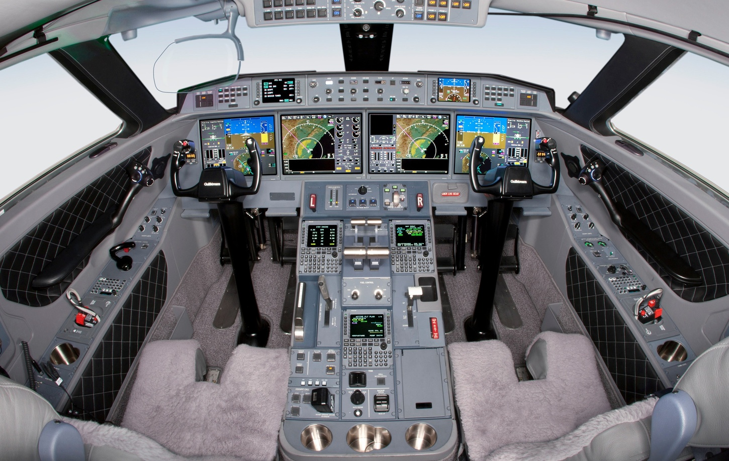 Interior of cockpit