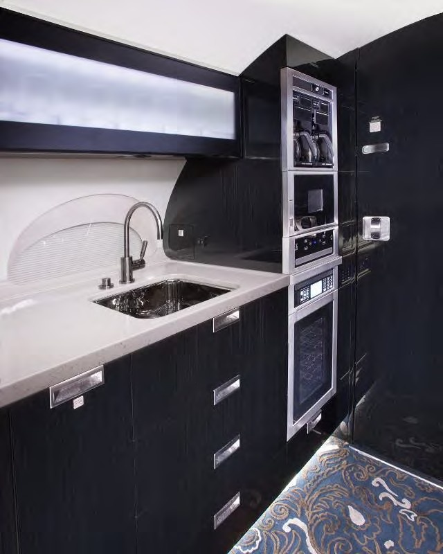 Jet countertop including sink and oven onboard