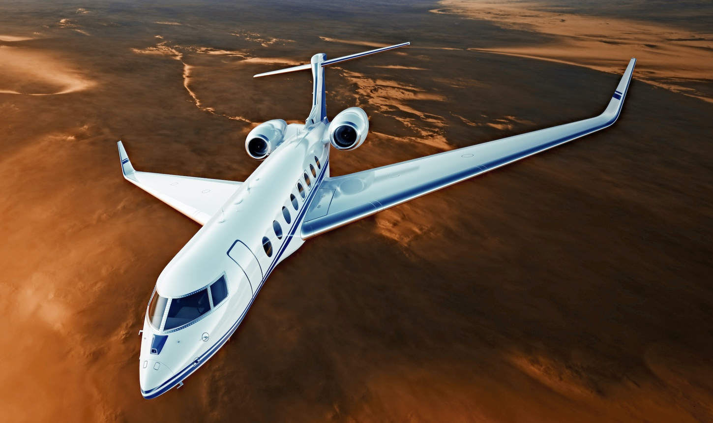 Private air charter services jet flying