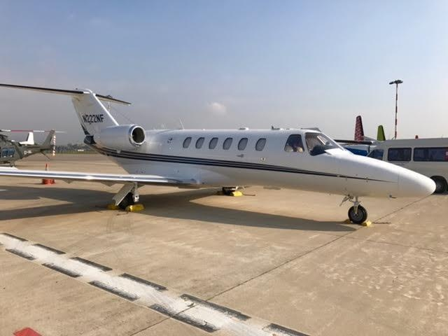 Exterior of the 2002 Cessna Citation CJ2 S/N 525A-0074 jet on Freestream