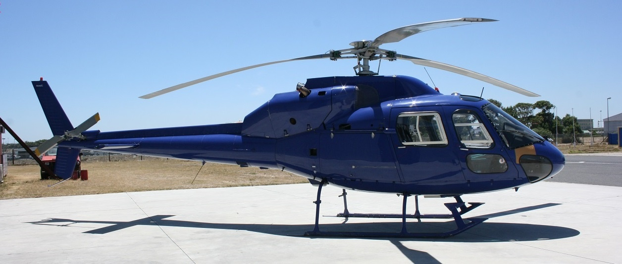Exterior view of the 1990 Eurocopter AS355-F2 S/N 5464 helicopter on Freestream