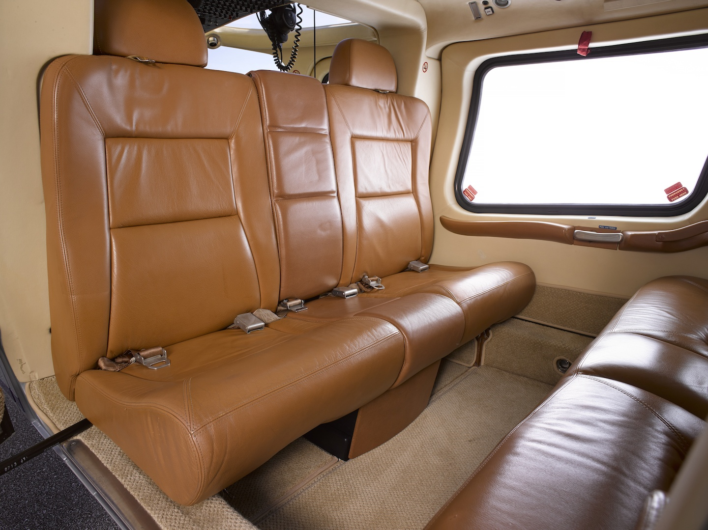 Backseats of the 1999 Agusta A109E SN 11057 helicopter on Freestream