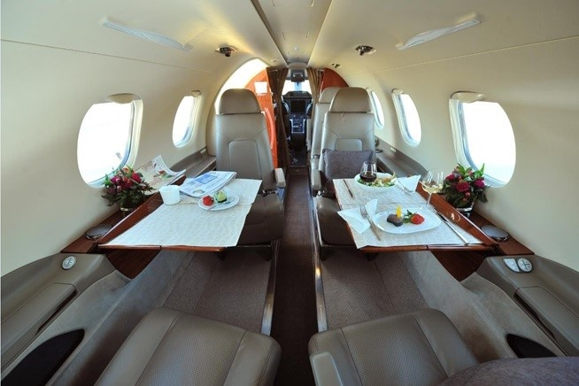 Interior of the 2014 Phenom 300 S/N 50500206 jet on Freestream