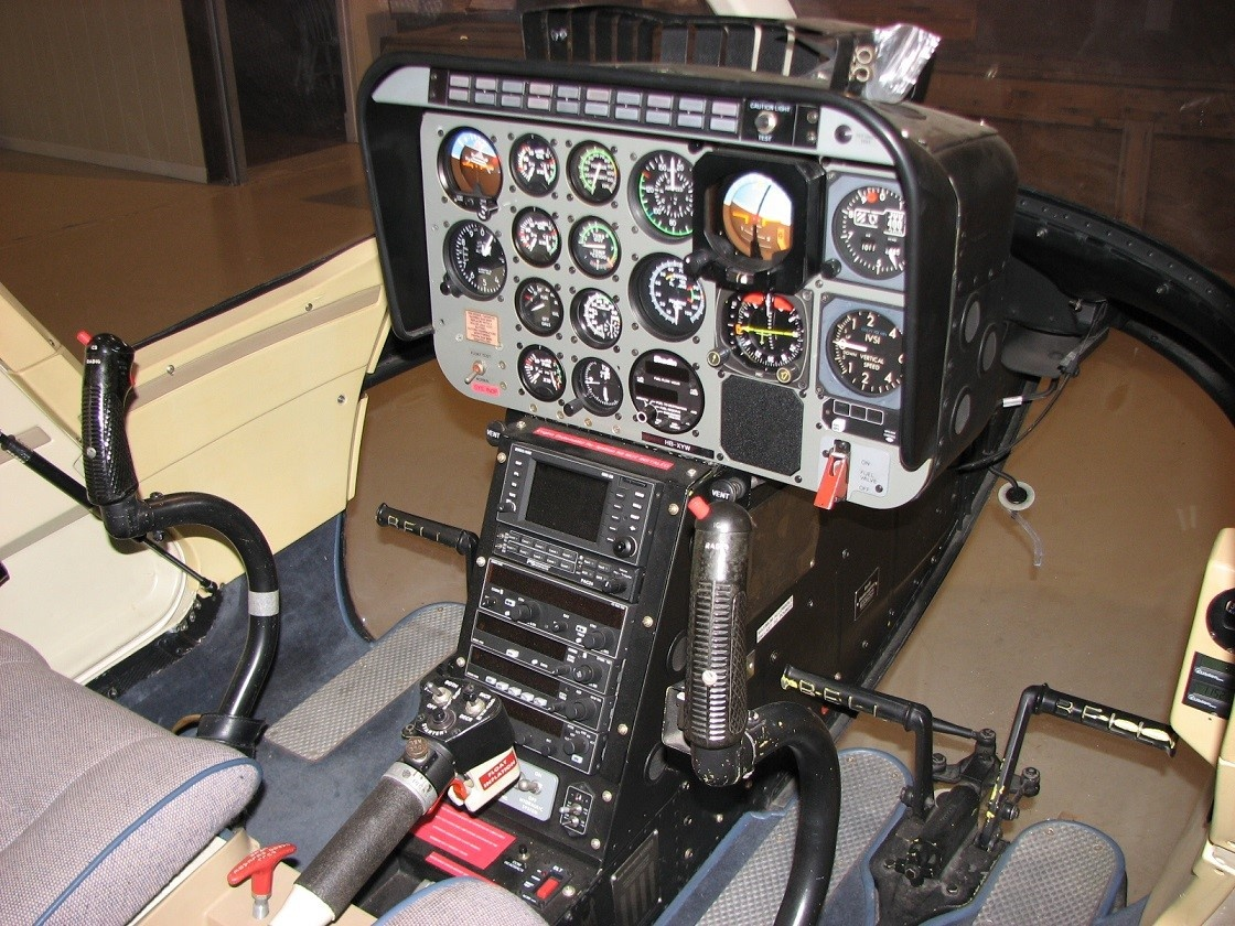 Cockpit of the 1991 Bell 206 B III S/N 4180 helicopter on Freestream