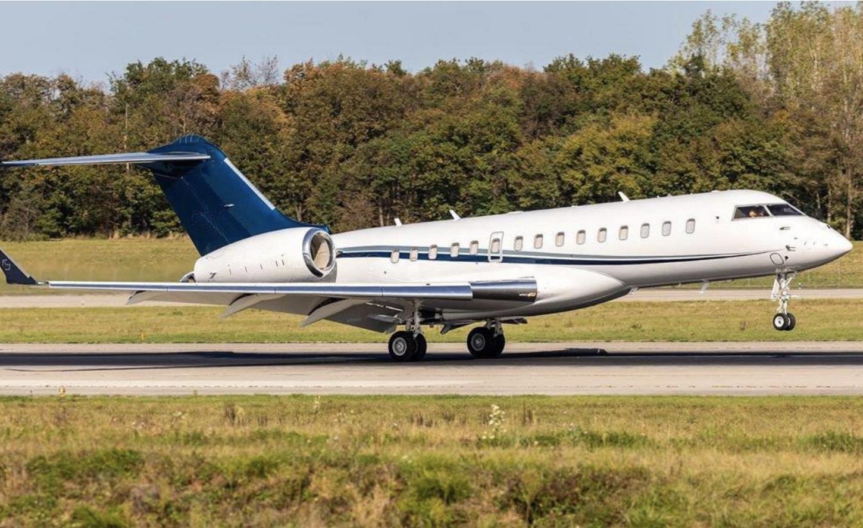 Gulfstream jet taking off
